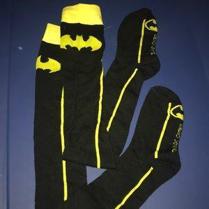 Knee high Batman socks